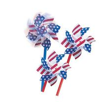 Stars & Stripes Pinwheels - 36 per pack