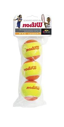 Wilson Starter Game 3 Ball Bag Stage 2 Felt Training Balls
