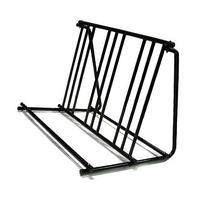 Hd Steel 1-6 Bikes Floor Mount Bicycle Park Storage Parking
