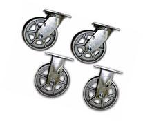 """6"""" x 2"""" Steel Casters 1250# w/ Semi Steel Albion Wheel"""
