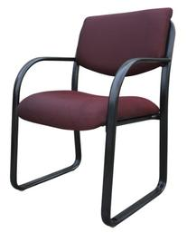 Boss Steel Frame Guest Chair - B9521 - Burgundy