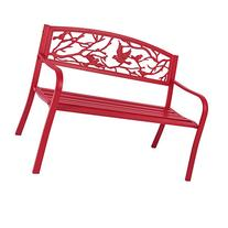 Best Choice Products Steel Patio Garden Park Bench Outdoor