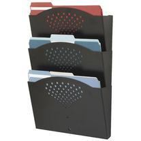 Steel Wall Pockets, Letter, Three Pocket, 12 x 3 1/4 x 17 1/