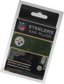 Steelers Earplugs 6 Pair 3 Pack