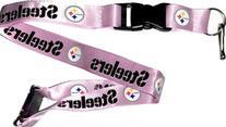 Steelers Pink Clip Lanyard Keychain Id Ticket