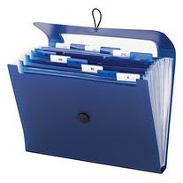 Step Index Organizer, 12-Pocket, Letter, Poly, Navy