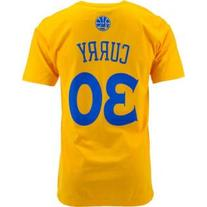 Stephen Curry Golden State Warriors Gold Jersey Name and