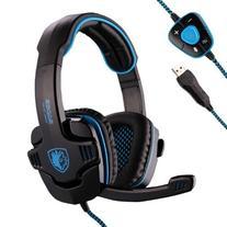 Sades Stereo 7.1 Surround Pro USB Gaming Headset Headband