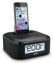 iHome Stereo FM Clock Radio with Lightning Dock To Charge/