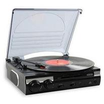 3-Speed Stereo Turntable w/ Speakers