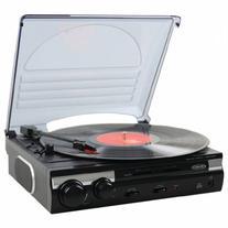 Spectra Merchandising 3-Speed Stereo Turntable w/ Speakers