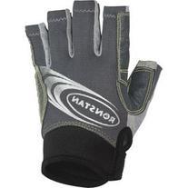 Ronstan Sticky Race Gloves w/Cut Fingers-Grey-Large