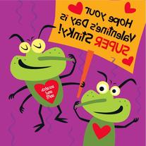 Peaceable Kingdom Funny Valentine 28-Card Super Packs, in
