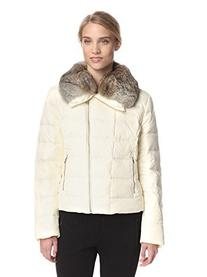Tumi Stockholm Down Ivory Jacket Real Rabbit Fur