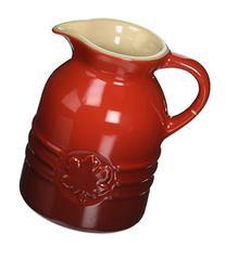 Le Creuset Stoneware 6-Ounce Syrup Jar, Cerise