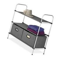 Whitmor Storage Rack - 2 Drawer - 3 Tier - 12 Height x 28.6