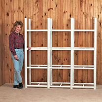Bin Warehouse Storage System, 12 Compartments, 68in.H x 69in