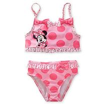 Disney Store Minnie Mouse Swimsuit Size Small 5/6  Pink