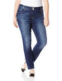 Lucky Brand Women's Plus-Size Emma Straight Jean, Cobalt