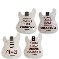 ChromaCast Strat Guitar Shaped Coasters, String Winder and