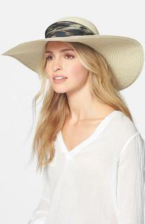 Women's Badgley Mischka Straw Sun Hat - Beige