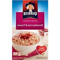 Quaker Strawberries & Cream Instant Oatmeal, 10 Ct/12.3 Oz