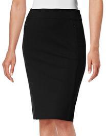 Diane Von Furstenberg Stretch-Fit Pencil Skirt-BLACK-10