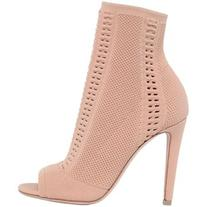 Gianvito Rossi Women 100mm Stretch Knit Open Toe Booties