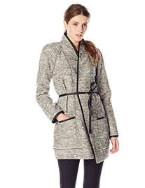 Rebecca Taylor Women's Stretch Tweed Coat, Black/White Combo
