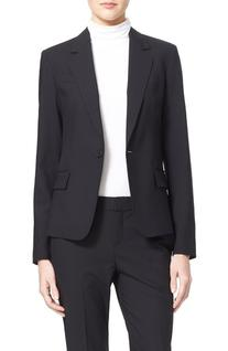 Women's Theory 'Gabe' Stretch Wool Blazer, Size 8 - Black