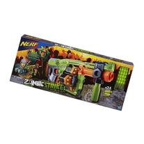 Nerf Zombie Strike Doominator Blaster with Blaster toy has a