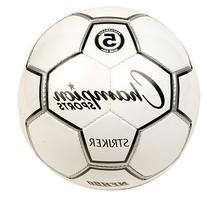 Champion Sport Striker Soccer Ball, Black/White, Size 5