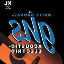 GHS Strings WB-XL White Bronze Acoustic Guitar Strings,