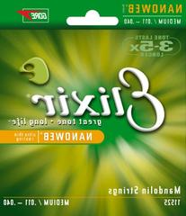 Elixir Strings Mandolin Strings w NANOWEB Coating, Light
