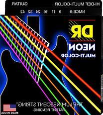 DR Strings NMCE-9 DR NEON Electric Strings, Light, Multi-