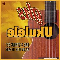 GHS Strings 10 Set, Hawaiian D-Tuning Ukulele Strings, Clear