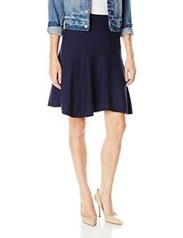 Three Dots Women's Stripe A Line Skirt, Night Iris, Medium