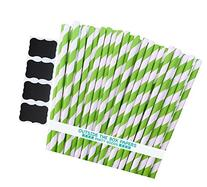 Outside the Box Papers Stripe Paper Straws 7.75 Inches Pack