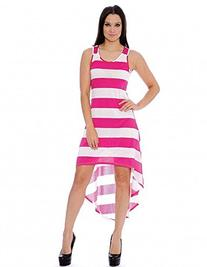 Enimay Women's High Low Stripe Summer Spring Sleeveless Maxi