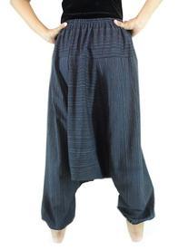 CandyHusky's Striped Cotton Men Women Baggy Hippy Yoga Harem