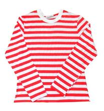 Red/White Striped Crew Neck MED