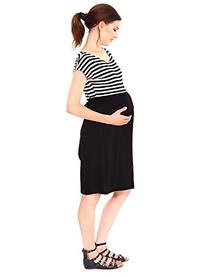 Simplicity Striped Maternity Dress in Flexible Stretch Fit,