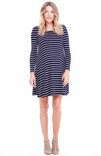 Women's Ingrid & Isabel Striped Maternity Trapeze Dress,