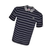 Lacoste Live Striped Polo T Shirt Navy