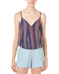 BCBGeneration Women's Striped Surplice Strappy Top, Deep