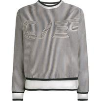 Fendi - striped sweatshirt - women - Silk/Cotton/Polyamide/