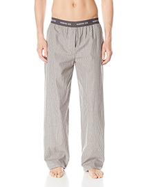Ben Sherman Men's Striped Woven Sleep Pant, Frost Grey,