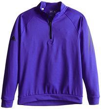 adidas Golf Boys 3 Stripes 1/2 Zip Shirt, Night Flash/Black