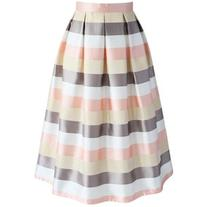 Chicwish Stripes in the Spotlight Midi skirt