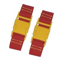 "Kalencom 4.25"" Stroller Straps - Red with Yellow Clips"